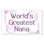 World's Greatest Nana Sticker (Rectangle 10 pk)