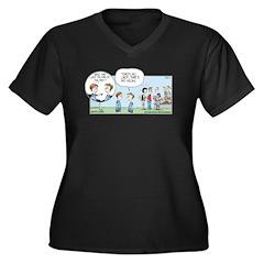 That's My Mom Women's Plus Size V-Neck Dark T-Shir