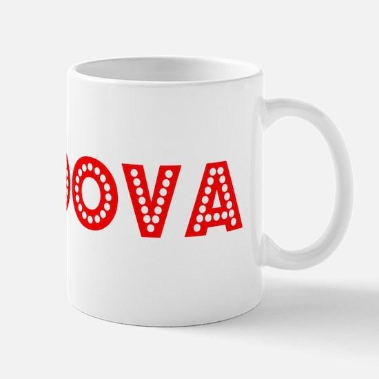 Retro Moldova (Red) Mug