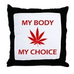 Drug Choice Throw Pillow