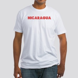 Retro Nicaragua (Red) Fitted T-Shirt