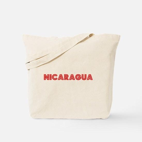 Retro Nicaragua (Red) Tote Bag