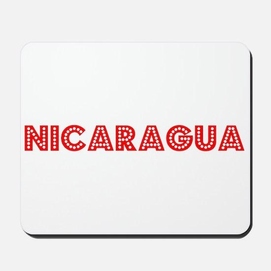 Retro Nicaragua (Red) Mousepad