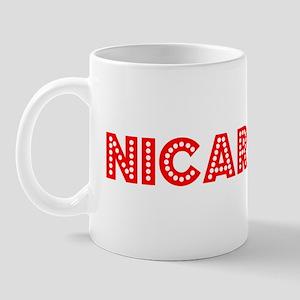 Retro Nicaragua (Red) Mug