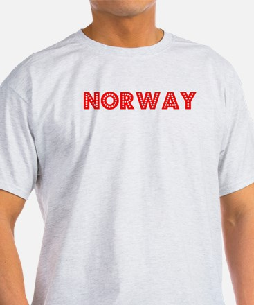 Retro Norway (Red) T-Shirt