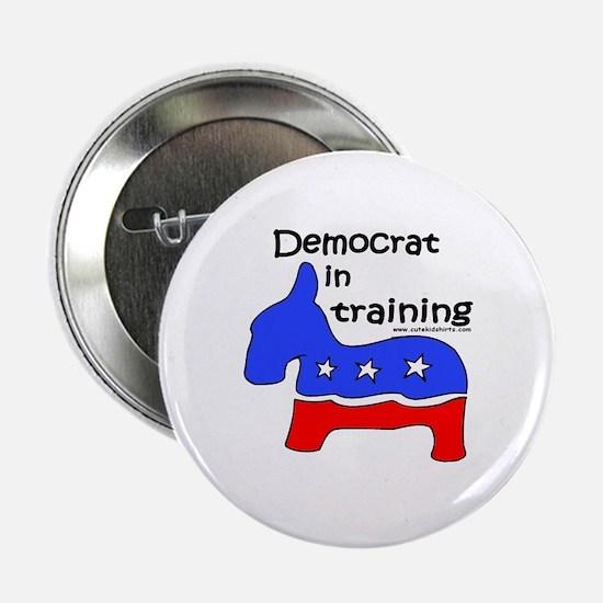 """Democrat in Training 2.25"""" Button"""