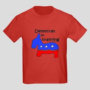 Democrat in Training Kids Dark T-Shirt