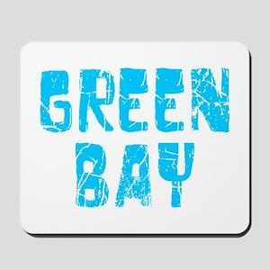 Green Bay Faded (Blue) Mousepad