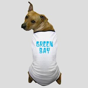 Green Bay Faded (Blue) Dog T-Shirt