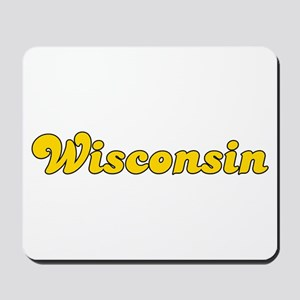 Retro Wisconsin (Gold) Mousepad