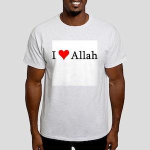 I Love Allah Ash Grey T-Shirt