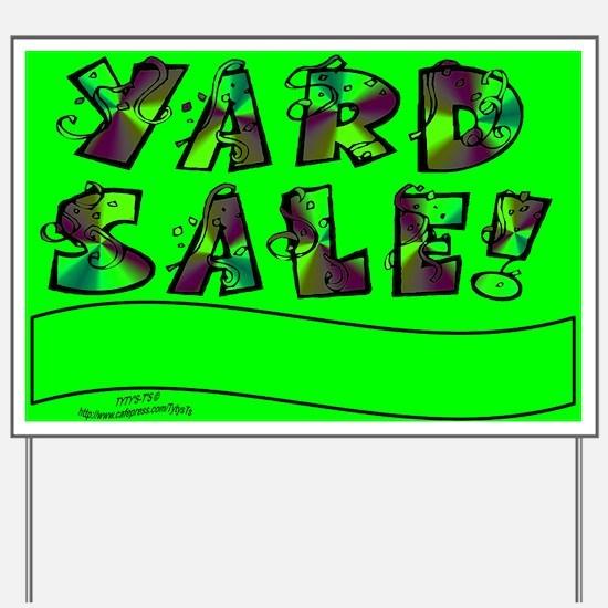 Green Yard Sale Sign