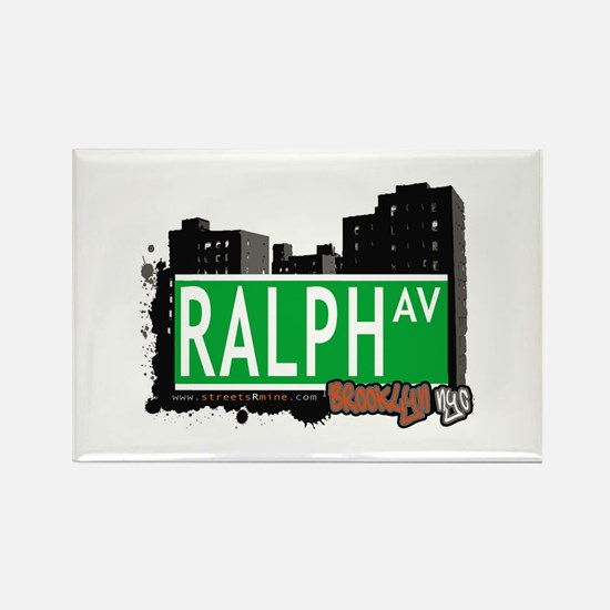 RALPH AV, BROOKLYN, NYC Rectangle Magnet