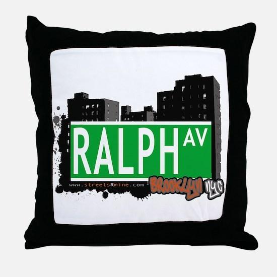 RALPH AV, BROOKLYN, NYC Throw Pillow