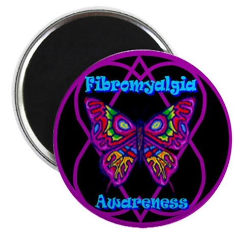 Purple Butterfly Hope-a-gram Fibro Magnet