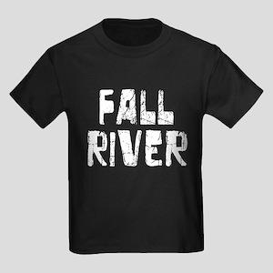 Fall River Faded (Silver) Kids Dark T-Shirt