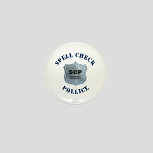 Spell Check Police Mini Button