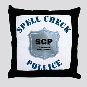 Spell Check Police Throw Pillow