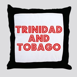Retro Trinidad and.. (Red) Throw Pillow