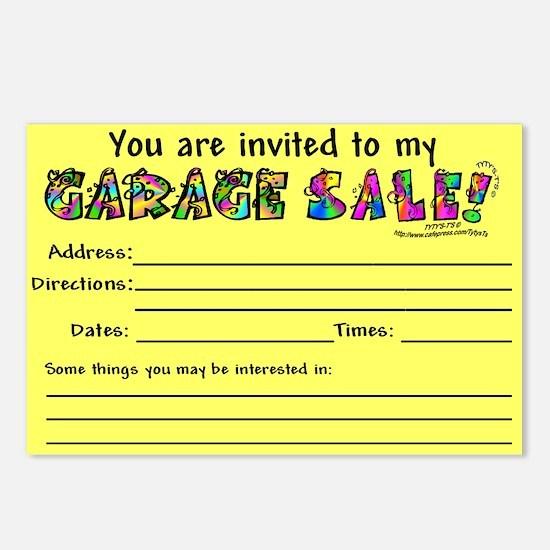Garage Sale/ Yard Sale Postcards (Package of 8)