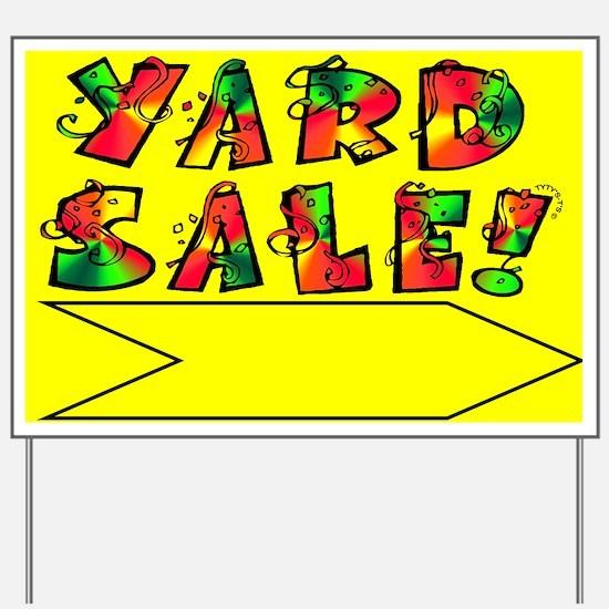 Yard Sale Sign (Yellow Right Arrow)