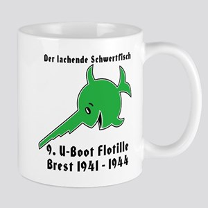 9th Flotilla U-Boat WWII Large Mug w/text Mugs