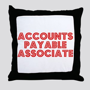 Retro Accounts Pa.. (Red) Throw Pillow