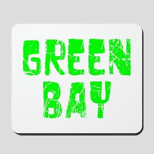 Green Bay Faded (Green) Mousepad