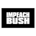 IMPEACH BUSH Rectangle Sticker