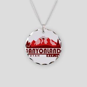 Canyonlands - Utah Necklace Circle Charm