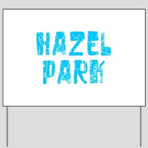 Hazel Park Faded (Blue) Yard Sign