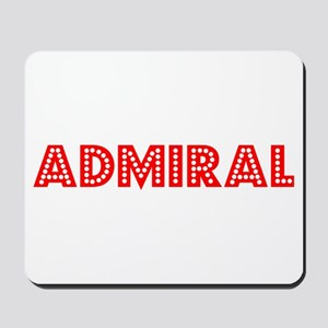 Retro Admiral (Red) Mousepad