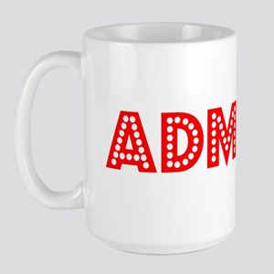 Retro Admiral (Red) Large Mug