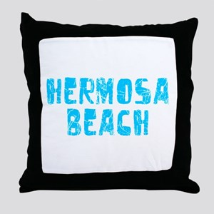 Hermosa Beach Faded (Blue) Throw Pillow