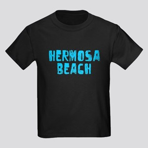 Hermosa Beach Faded (Blue) Kids Dark T-Shirt