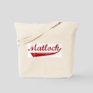 Matlock (red vintage) Tote Bag