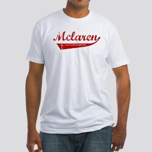 Mclaren (red vintage) Fitted T-Shirt