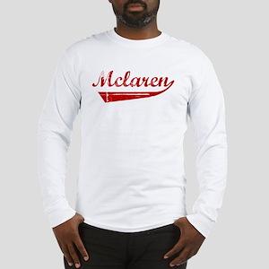 Mclaren (red vintage) Long Sleeve T-Shirt