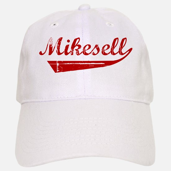 Mikesell (red vintage) Baseball Baseball Cap