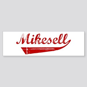 Mikesell (red vintage) Bumper Sticker