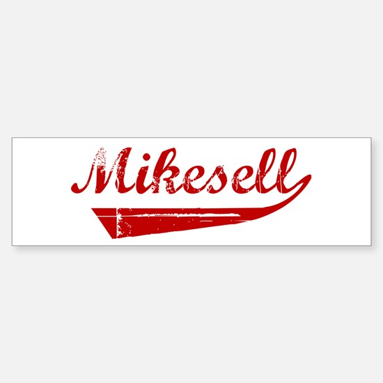 Mikesell (red vintage) Bumper Bumper Bumper Sticker