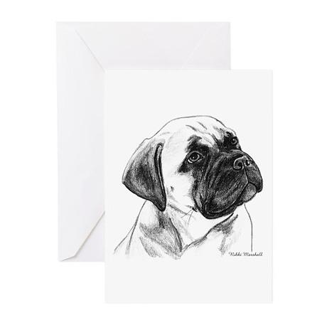 Bullmastiff Pup Greeting Cards