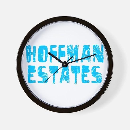 Hoffman Esta.. Faded (Blue) Wall Clock
