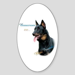 Beauceron Best Friend1 Oval Sticker