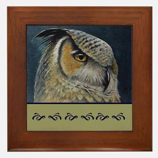 Great Horned Owl Framed Art