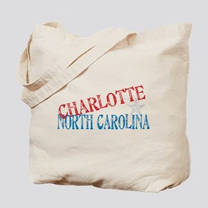 Charlotte North Carolina Retro Tote Bag