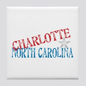 Charlotte North Carolina Retro Tile Coaster