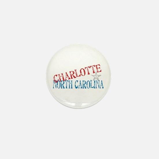 Charlotte North Carolina Retro Mini Button