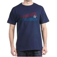 Charlotte North Carolina Retro Dark T-Shirt