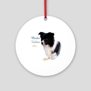Border Collie Best Friend1 Ornament (Round)